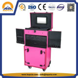 Caso do Hairdressing da forma com bandejas e cor-de-rosa das gavetas (HB-6405)