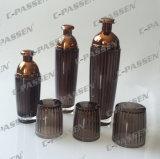 Nueva botella de acrílico cristalina de la loción de Brown para el empaquetado del cosmético (PPC-ALB-045)