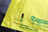 De gele Afgedrukte Verschepende Zak van de Kleur Plastiek voor Verpakking