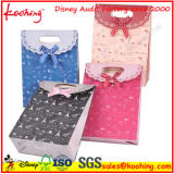 ピンクのSpotedの青いしまのあるギフト袋