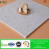 Controsoffitto bianco della cucina della pietra del quarzo di Artificail della scintilla