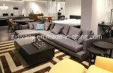 Sofá americano de la tela del sofá del hotel del sofá del hogar del estilo fijado (D-75)