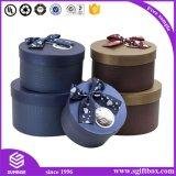 Farben-kundenspezifischer verpackenblumen-runder Papierkasten