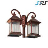 Tipo popular luz solar do estilo de Classica para a iluminação do jardim com energia do verde da economia de potência