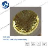Techo decorativo del espejo del oro del corte del laser del acero inoxidable