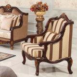 Il sofà del salone del tessuto ha impostato con il blocco per grafici di legno per la casa