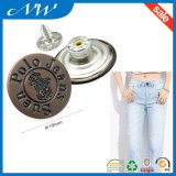 металл цвета 19mm a/Copper застегивает кнопку джинсыов