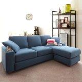 Janpanese Estilo Lazer Sectional Sofá Sala de estar Canto sofá de tecido lavável