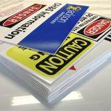 Напечатанные Corrugated пластичные знаки Coreflute доски