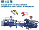 Máquina de la inyección de China para hacer plantas del pie bicolores