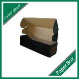 Caja de embalaje acanalada brillante negra del rectángulo (FP8039132)