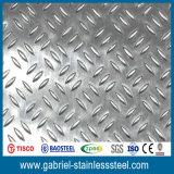 304 plaque Checkered en acier de diamant de l'acier inoxydable 5mm