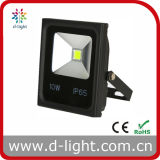 Ultra Slim 85-265V IP65 à usage extérieur COB 10W LED Floodlight