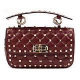 Les sacs à main en cuir réels de type européen ont clouté des sacs d'épaule de dames avec la chaîne Emg4896 en métal