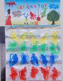 La plastica appiccicosa degli animali del yo-yo dei giocattoli elastici divertenti gioca i giocattoli del dinosauro