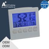Jjy controlado por radio reloj digital con la temperatura y calendario