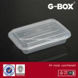 Microwaveableの半透明なプラスチックデリカテッセンの容器及びふたのコンボのパック
