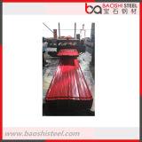 Folha galvanizada revestida longa da telhadura do metal da cor vermelha da extensão