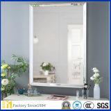 espejo grande del cuarto de baño de la pared del vidrio de flotador del precio de fábrica de 2m m a de 8m m