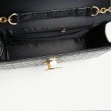 까만 악어 패턴 금속 버클 PU 핸드백 (A030)