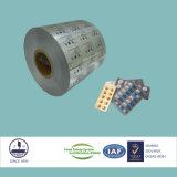Аттестованная ISO/Fssc/Ohsas фармацевтическая алюминиевая фольга Ptp на упаковывая сплав 8011 H18 пилек