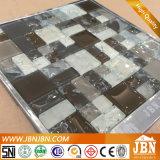 洗面所の壁(G855006)のための白黒氷のひびのガラスモザイク