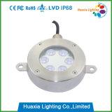 304/316 luz subacuática inoxidable de la fuente del acero LED
