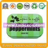 Metallrechteckiger Gummi-Behälter für tadelloses Zinn, Süßigkeit-Zinn-Kasten