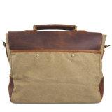 Мешок плеча сумки кожи Cowhide и посыльного холстины (RS-6807F)