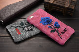 Cassa del telefono Fashion Design elegante ricamo Rose PC Mobile per iPhone 6S 7