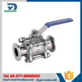 Válvula de esfera manual do saneamento 3-Piece do aço inoxidável