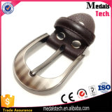 Materiales metálicos de Matt automático de plata correa de cuero de Buckl (22 mm)