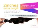 Glücks-Haar-Jungfrau-brasilianisches Haar-Sprung-Wellen-Menschenhaar 100%