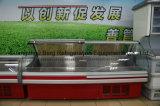 Refrigerador comercial do frio do alimento do Showcase do indicador da carne fresca