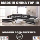 Кровать неподдельной кожи конструкции Италии & софы ткани для проекта виллы (LZ-219)