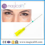Linha da roda denteada do levantamento de face 3D das injeções da mitigação da pele Pdo