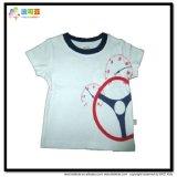 短い袖の赤ん坊の衣服のGotsの有機性新生のTシャツ