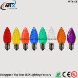 매끄러운 표면 LED 끈 빛 C7 C9 다이아몬드 전구