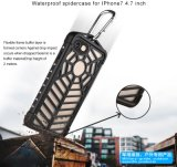 Caso de la célula impermeable del diseño de la araña/del teléfono móvil para el iPhone 7