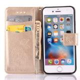 Accessoires boîtier de téléphone cellulaire gravant la caisse rêveuse de pochette de cuir de gant de baseball pour l'iPhone 7 plus 6