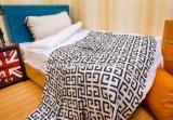100%년 면 담요 침대 시트를 돋을새김하는 Laser 4
