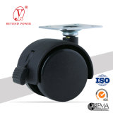 40mm High Performance Caster Swivel cadeira de escritório Castor Stable Quality Rubber Caster Wheel Top Plate Caster Wheel Furniture Castor
