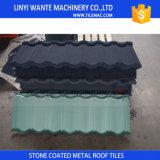 Tuile de toiture enduite en métal d'excellent de forme sable matériel ornemental de Linyi Wante/