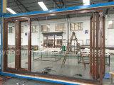 Подгонянное сделанное Lowe застекленное двойником стеклянная дверь складчатости балкона/дверь Bifolding