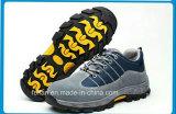[هيغقوليتي] [سود] جلد أمان حذاء مع شبكة فرعة حذاء