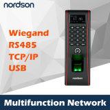 Controlador de acesso à impressão digital biométrica baseado em IP e atendimento no tempo