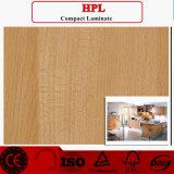 laminado de madera del grano HPL de 0.6m m
