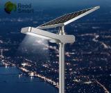 Réverbère solaire extérieur intelligent de DEL avec le panneau solaire réglable