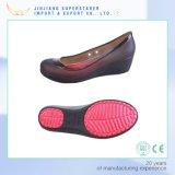 PVC superior jalea mujer tacón alto EVA sandalias