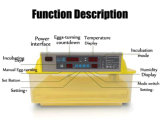 De kleine Automatische Uitbroedende Machine van de Incubator van 56 Eieren van de Kip Mini